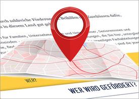 Screenshot Homepage Land OÖ mit Landkarte und rotem Markierungsbutton