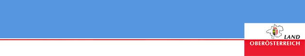 Landeslogo auf blauem Hintergrund