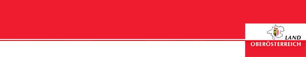 Landeslogo auf rotem Hintergrund