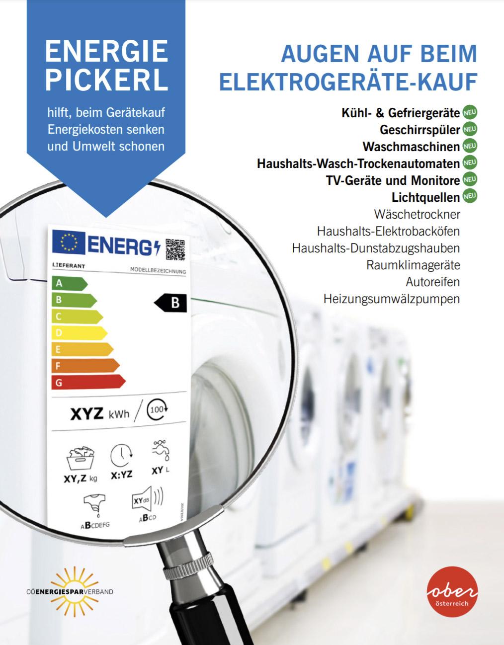 Energie-Pickerl - Augen auf beim Gerätekauf