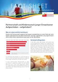 Partnerschaft und Kinderwunsch junger Erwachsener