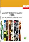 Umweltförderprogramm 2016 der Abteilung Umweltschutz