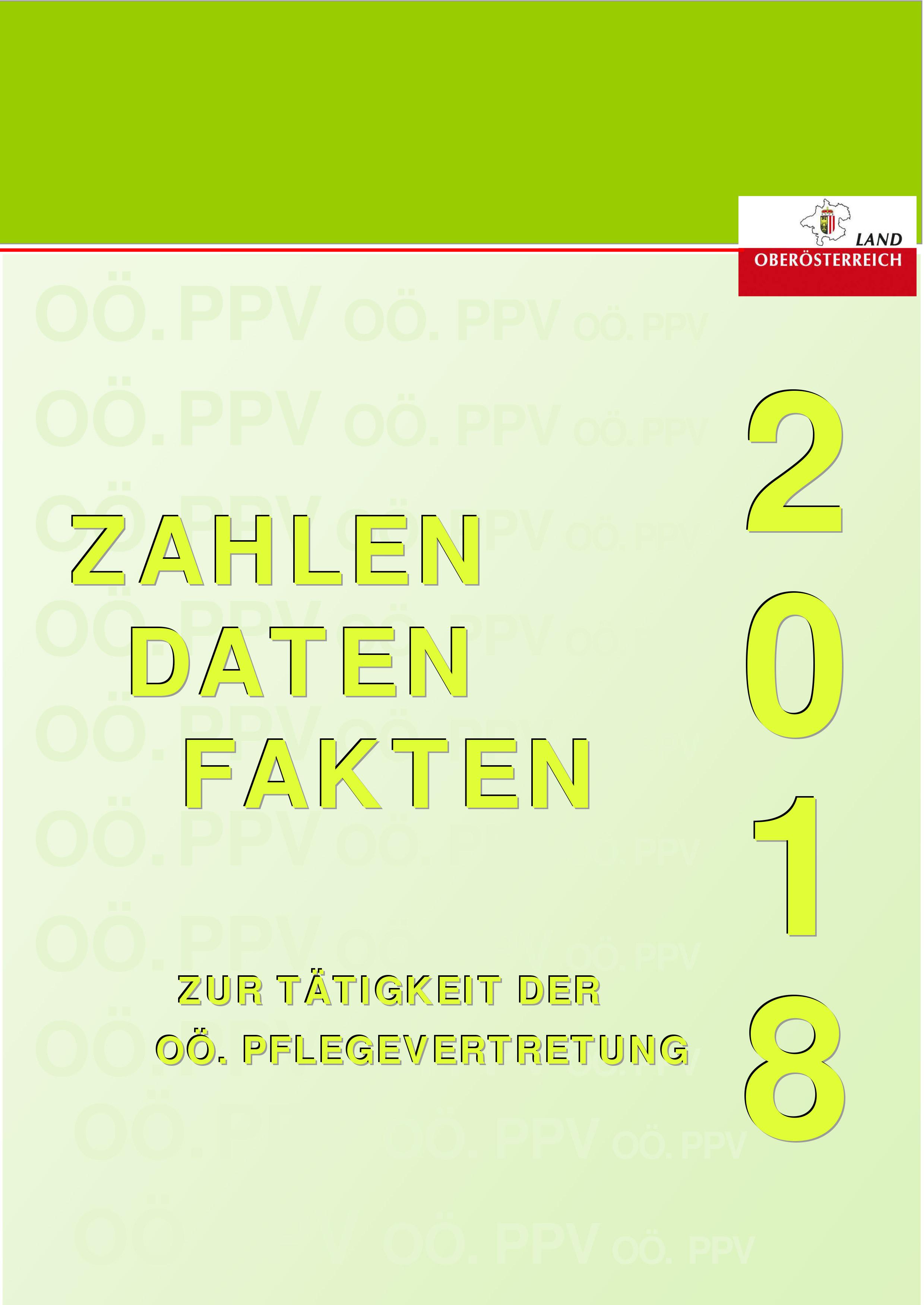 Tätigkeitsbericht der Oö. Pflegevertretung für das Jahr 2018