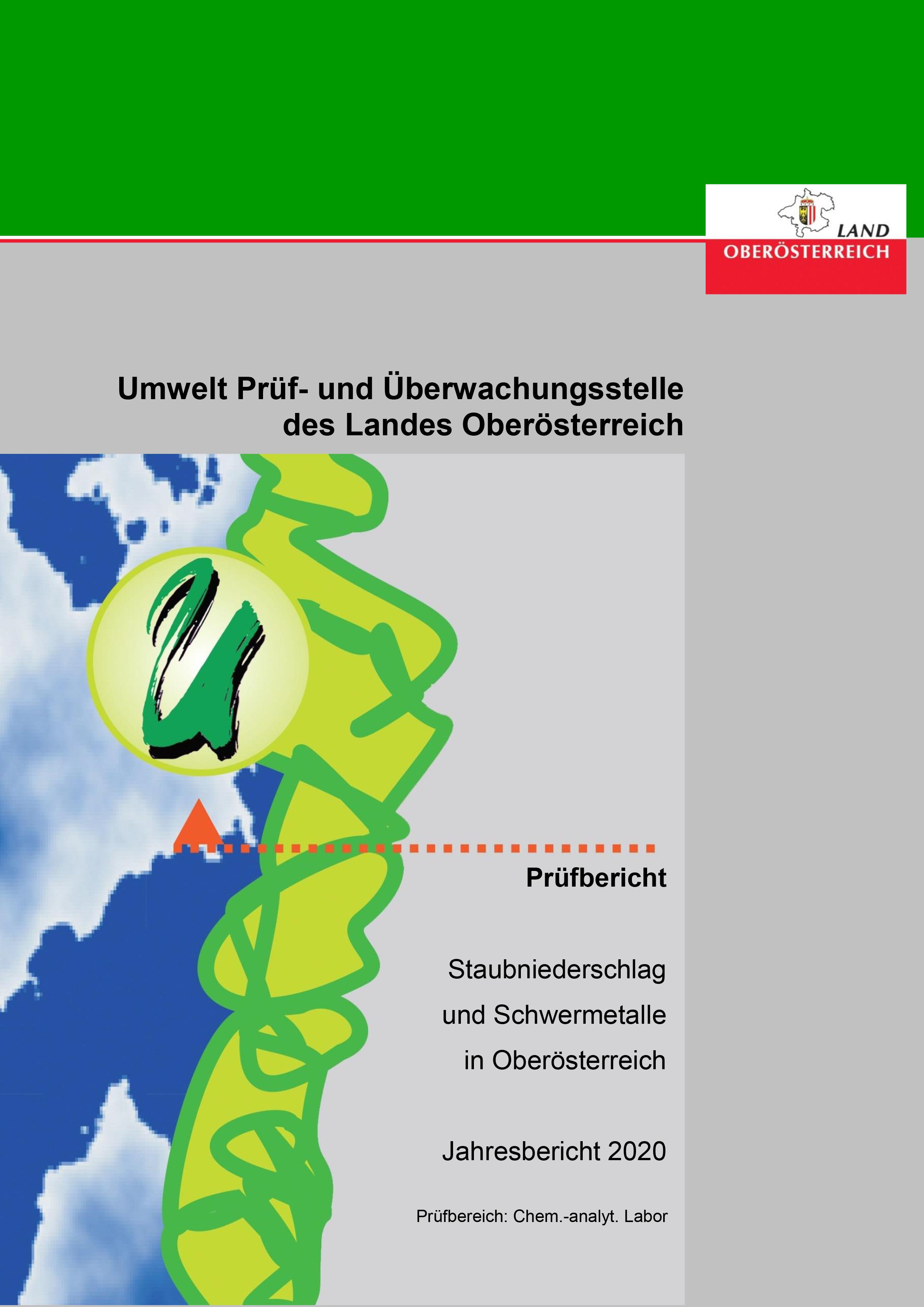 Staubniederschlag und Schwermetalle in Oberösterreich 2020