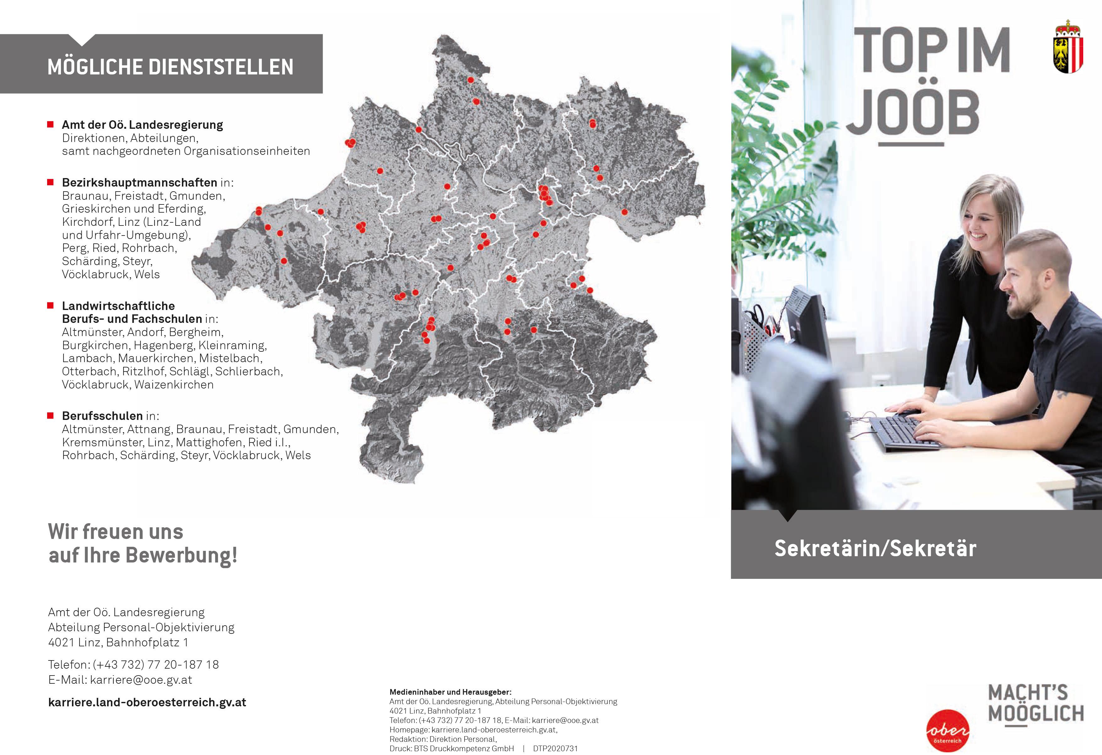 Top im Job - Sekretärin/Sekretär