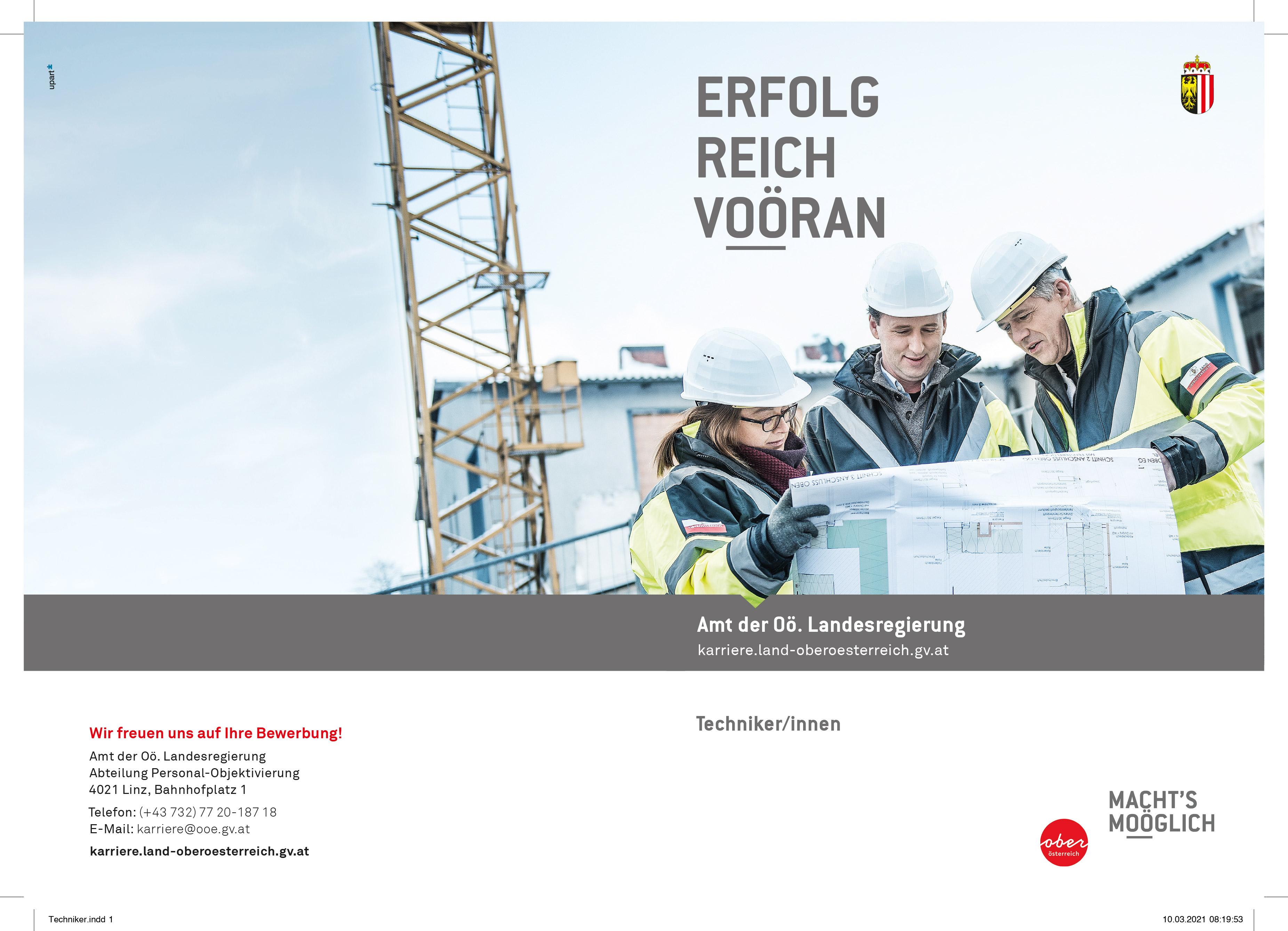 ERFOLGREICH VOÖRAN - Technikerinnen und Techniker
