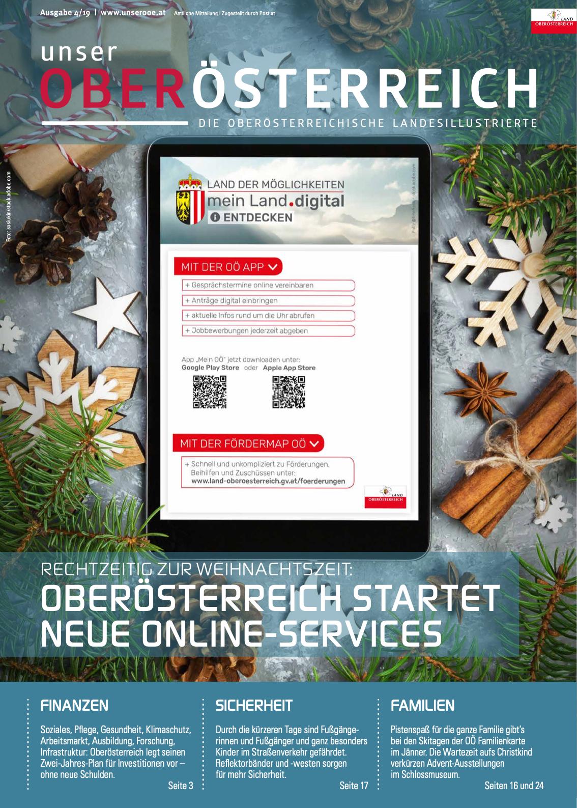 Deckblatt der aktuellen Ausgabe von Unser Oberösterreich